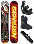 SNOWBOARD SET AIRTRACKS NEPTUNE ROCKER WIDE+BINDUNG+BOOTS+BAG /158cm 160cm/ NEU