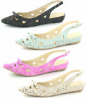 *SALE* Various Coloured Sling Back Synthetic Casual Ballerina Shoes Spot On