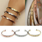 Fashion Women Gold Silver Plated LOVE Bracelet Jewelry Charm Cuff Bangle Gifts