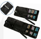 Canvas Wrap Roll up Pen Case Pencil Holder Bag Storage Pouch For 36 / 48pcs Pens