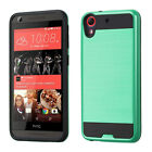 For HTC Desire 626 Brushed Metal HYBRID Rubber Case Phone Cover Accessory
