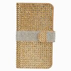 For LG V10 Premium Leather Bling Diamond Wallet Pouch Flip Case + Screen Guard