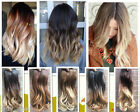 """17"""" Short Straight Wavy Loose Curls Clip in Hair Extensions, Ombre, Xmas Gfit"""