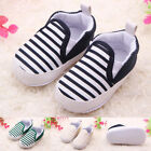Infant Toddler Baby Boy Shoes Crib Shoes Sole Casual Striped Shoes  0-18 Month