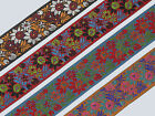 "1 yd Jacquard Trim 2"" wide Woven Border Sew  Ribbon Lace T628"