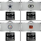 Choose Your NFL Team 8 PC Stainless Steel BBQ Utensil Set w/ Metal Case