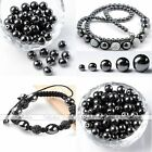 4,6,8,10,12mm Black Magnetic/Non Magnetic Round Loose Spacer Beads Findings