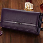 Women's PU Leather Solid Color Wallet High Quality Fashion Wallet 7Colors