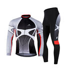 Men Long Sleeve Outdoor Sports Breathable Cycling Jersey Set T-shirt Pants Suit