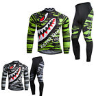 Mens Breathable Cycling Road Bike Bicycle Team Clothing Jersey Jacket&Pants Set
