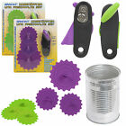 Tin Can Opener + 3 Silicone Cover Pet Food Bowl Fresh Reseal Reusable Knob Lids