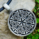 Triquetra Norse Seed Flower of life Pagan hexagon sacred geometry Pewter Pendant