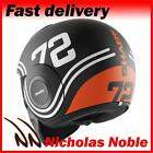 SHARK RAW 72 MAT Black Orange OPEN FACE URBAN STREET FIGHTER MOTORCYCLE HELMET