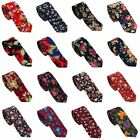 Coachella Ties Cotton Necktie Jacquard Floral Skinny Tie (21 Colors for Choose)