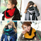 Nice Women Ladies Warm Infinity 2 Circle Knit Cowl Neck Long Scarf Soft Shawl