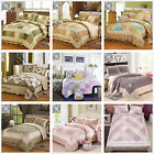 Cotton Queen King Size Quilted Bedspreads Set Patchwork Coverlet Throw Rug New