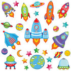 Space Rocket Ship Stars Planets Nursery Wall Stickers Kids Vinyl Wall Decals R16