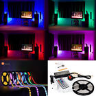 5M 16.4ft 5050 SMD Waterproof Strip Light 300LEDs 44 Key IR Remote 12V 5A Power