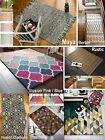 100% Wool Rug Carpet Mat Large Medium Small Stripes Modern Many Sizes & Colours