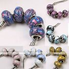 5pcs Lot Howlite Turquoise Gemstone European Bead For Charms Chain Bracelet DIY