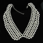 Exquisite 3 Colors Faux Pearl Rhinestone Beads Choker Neck Collar Necklave Wrap
