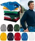 NEW Port & Company by Hanes Men's Cotton Mock Turtleneck S-4XL golf baseball