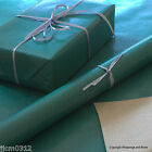 Green Kraft Natural Wrapping Paper Buff Brown Backed 5 or 10 mtrs Vintage Style