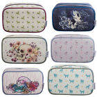 TaylorHe Make-up Bag Cosmetic Case Toiletry Bag Printed PVC Zipped Top Squared