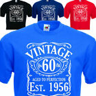 Mens Vintage Since 1956, funny 60th Birthday  / fathers Day Gift. Sizes up 5XL