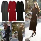 Women Maxi Dresses Hoodies Long Sleeve Sport Loose Dress Ladies Sweatshirt P4LF