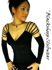 1095 SEXY NEW CLUBWEAR WOMENS BLACK WEB SHOULDER STRAPPY CLUBBING TOP UK SIZES