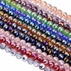 8,10mm Crystal Glass Faceted Round Ball Loose Beads Jewelry Craft Findings