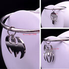Men's Gifts New Big Charms bracelet Stainless steel Smooth Cuff Bangle Jewelry