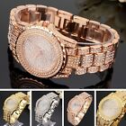 Chic Bling Diamond Women Anolog Quartz Crystal Rhinestone Wrist Watch Bracelet