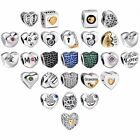 Heart Style European Charms Beads Fit 925 Sterling Silver Bracelet Chain CA