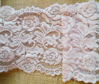 """NEW~Vintage Dusky Pink French Leavers Lace 5""""/13 cm Bridesmaid/Wedding/Craft"""