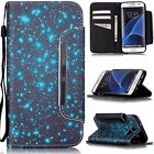 For Samsung Galaxy Phones Flip Pattern Leather Wallet Strap Stand Case Cover