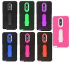 For Nokia Lumia 435 IMPACT Hard Rubber Case Phone Cover Kickstand +Screen Guard