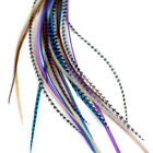 Real Feather Hair Extensions: Midnight Naturals - DIY kit with rings