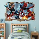 Marvel Super Heroes Smashed Wall 3D Decal Removable Wall Sticker Iron Man H177