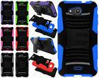 Kyocera Hydro Air C6745 Hybrid Combo Holster KICKSTAND Rubber Case Phone Cover