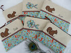 Handmade Cosmetic Bag Purse choice of Flower/Squirrel, size & option to add name