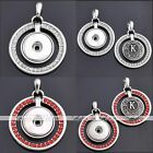 1x Rhinestone Removable Pendant Fit Button Snap Charm DIY Jewelry Gift NEW