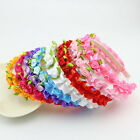 1 Pcs Rose Headband Fashion Kids Flower Hair Accessories for Girls 8 Colors JMF