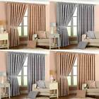 Riva Home Willow Leaf Chenille Lined Pencil Pleat Curtains