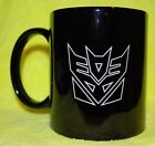Transformers Decepticon icon coffee Coffie Mug *Can be Personalized* Red or Blac