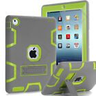 Hybrid Rubber Shock Proof Heavy Duty Hard Case with Stand Cover For Apple iPad