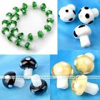 20x Lampwork Glass Mushroom Candy Color Charm Loose Bead Jewellery Wholesale DIY