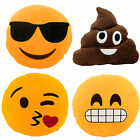 Emoji Smiley Face Emoticon Yellow Round Stuffed Pillow Cushion Plush Novelty Toy