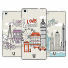 HEAD CASE DESIGNS DOODLE CITIES HARD BACK CASE FOR HUAWEI PHONES 1